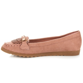 Seastar Loafers with tassels pink 3