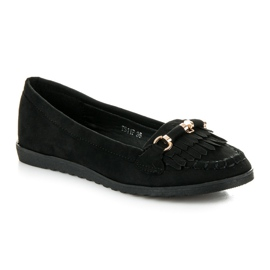 Seastar Loafers with tassels black 2