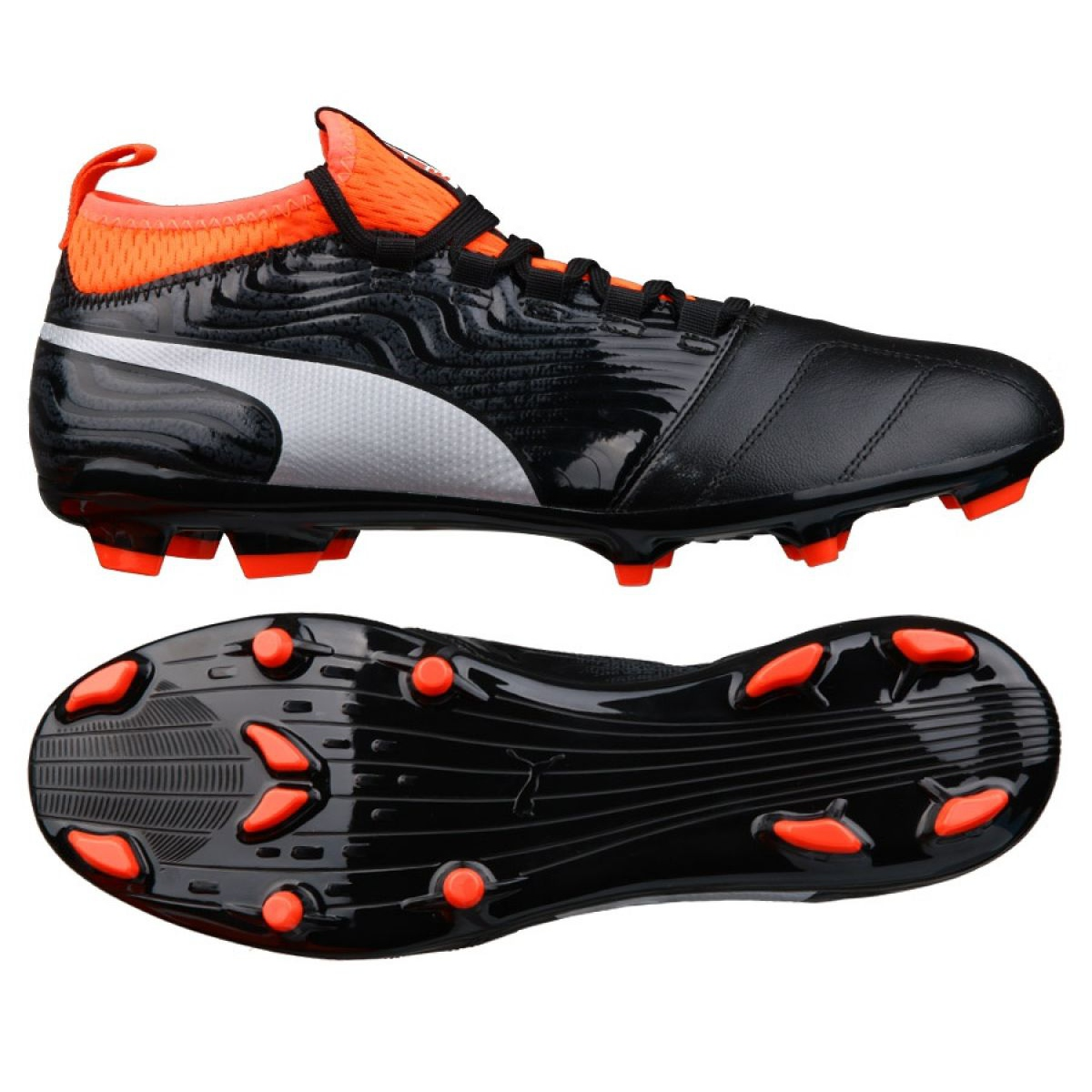 Details about Football boots Puma One 18.3 Fg M 104538 01 black black
