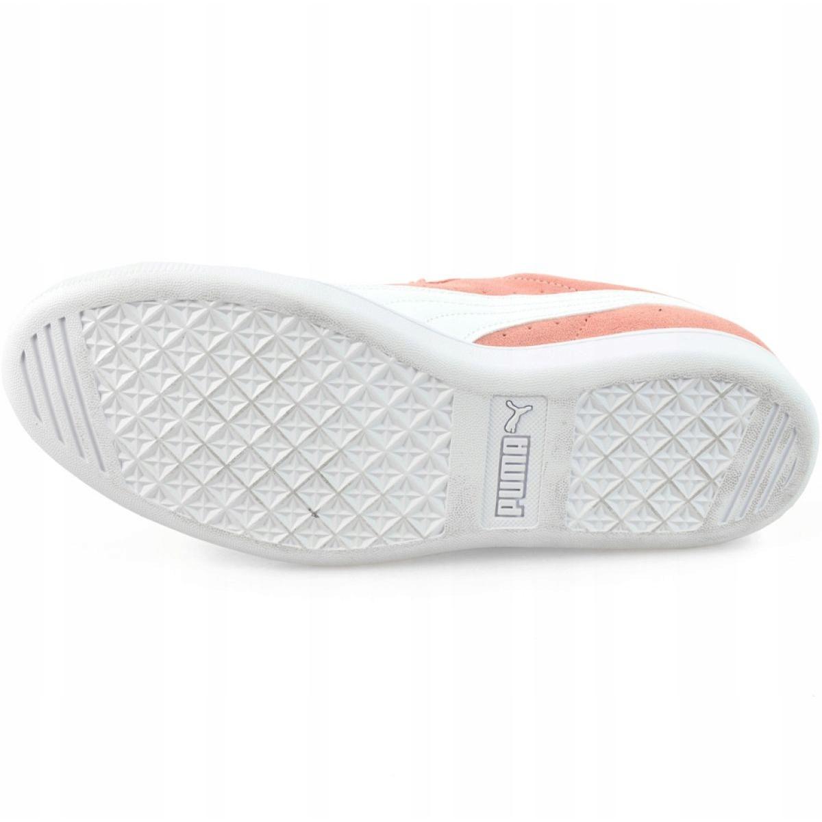 Details about Pink Shoes Puma Vikky Peach Beige Puma White W 362624 25