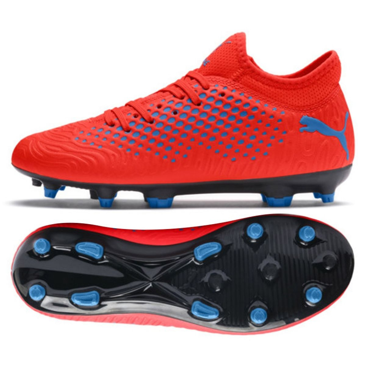 Details about Football boots Puma Future 19.4 Fg Ag Jr 105554 01 red red