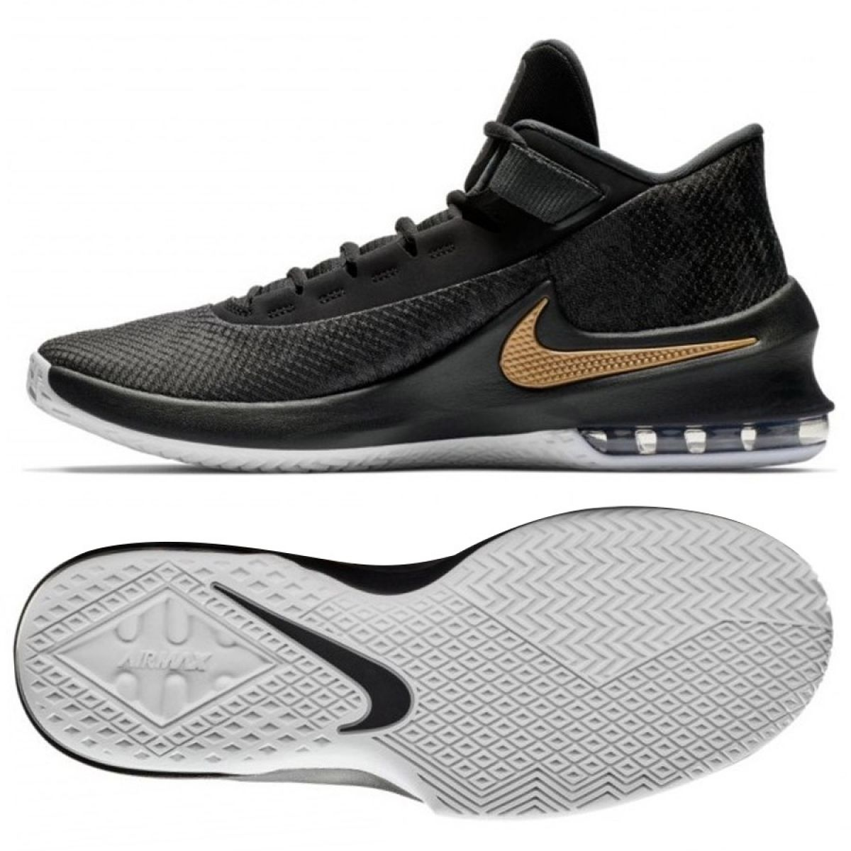 Details about Basketball shoes Nike Air Max Infuriate 2 Mid M AA7066 002 black black