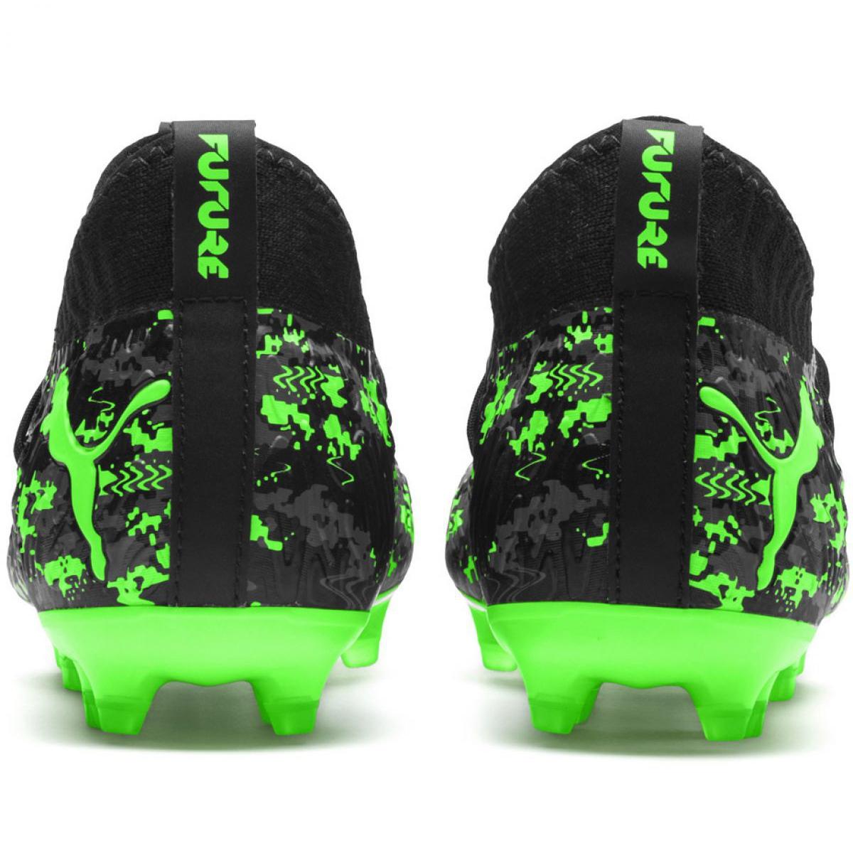 Details about Football boots Puma Future 19.3 Netfit Fg Ag Jr 105551 03 black, green black