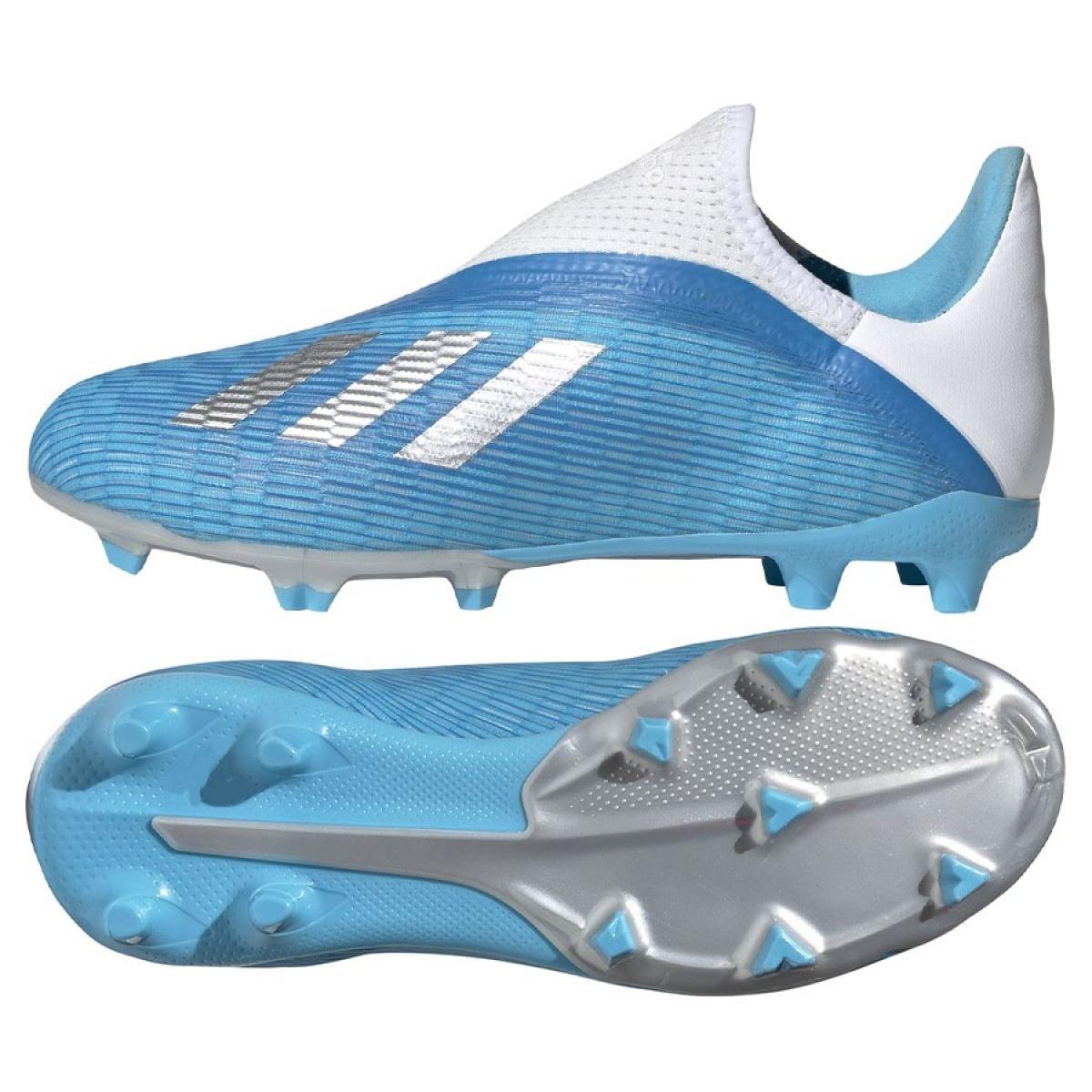 Details about Football shoes adidas X 19.3 Ll Fg Jr EF9114 blue blue