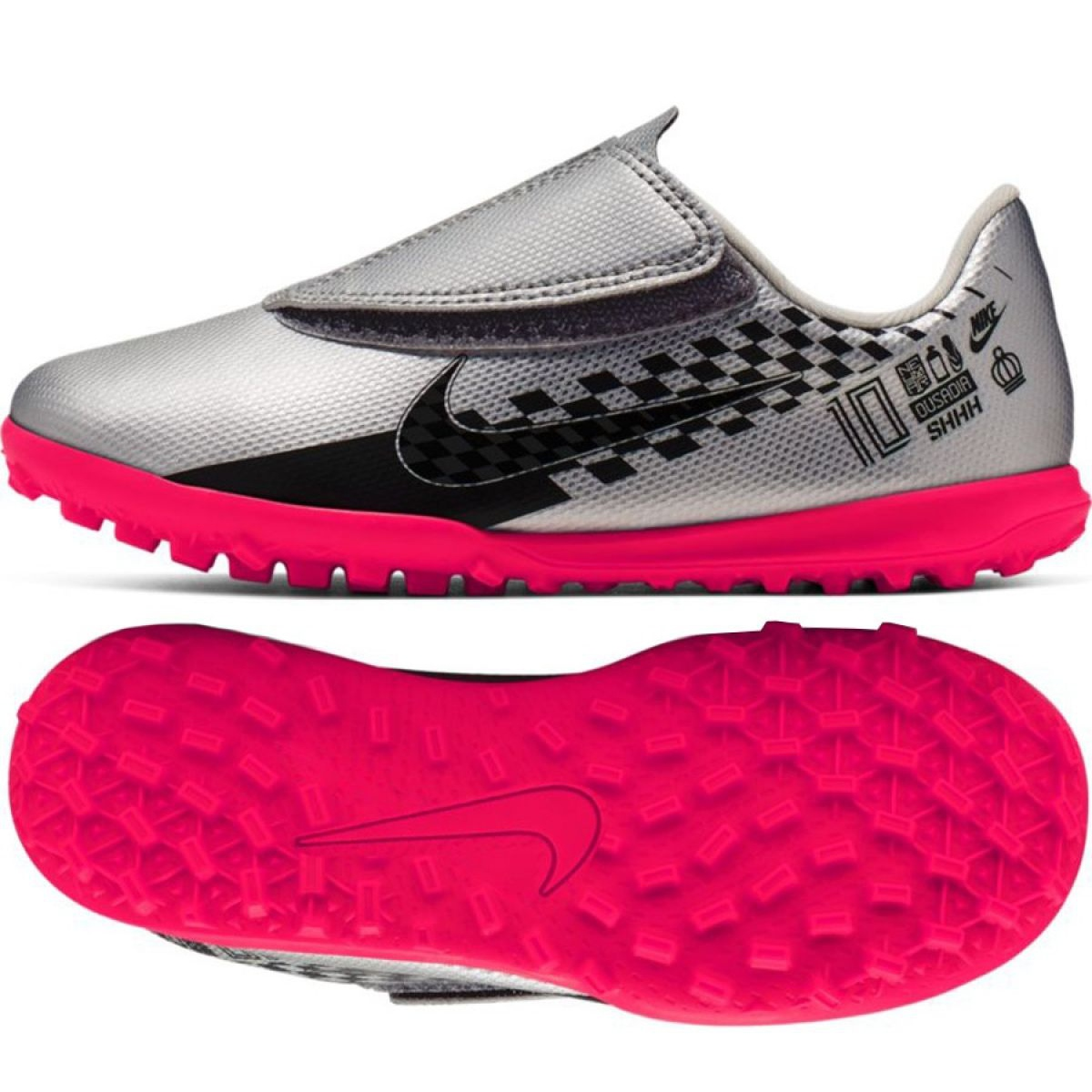 gene Galantería Asombrosamente  Nike Mercurial Vapor 13 Club Tf Neymar Jr AT8176 006 shoes grey ...