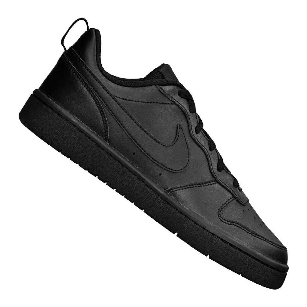el más nuevo al por mayor el más nuevo Nike Jr Tribunal Borough Baja 2 (GS) jr BQ5448-001 Zapatos Negro ...