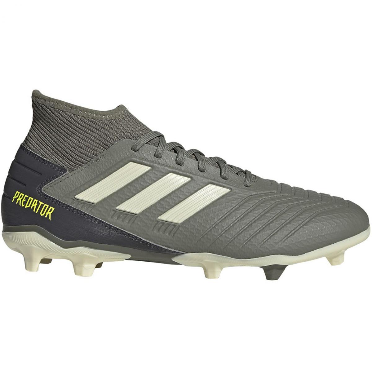 Details about Adidas Predator 19.3 Fg M EF8208 football shoes grey gray silver