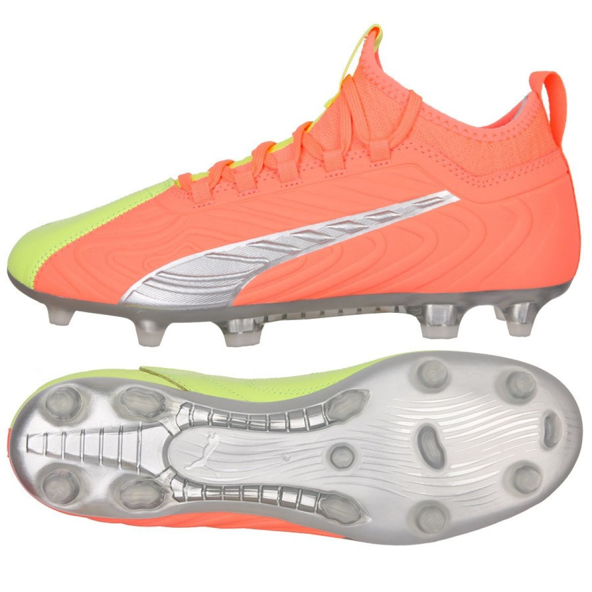 Details about Puma One 20.3 Osg FG / AG M 105961 01 football boots red,  orange orange